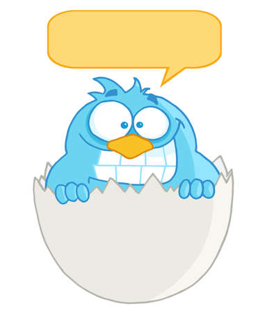 chirp: Blue Bird In Egg With Speech Bubble