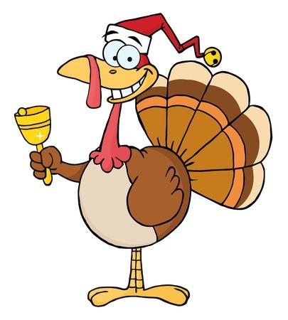 Türkei Cartoon Charakter Ringing A Bell