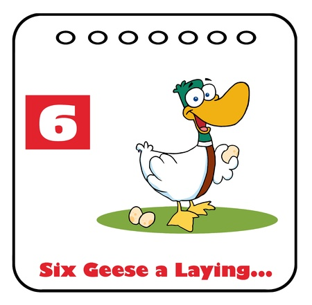 laying egg: Twelve Days Of Christmas Calendar 6