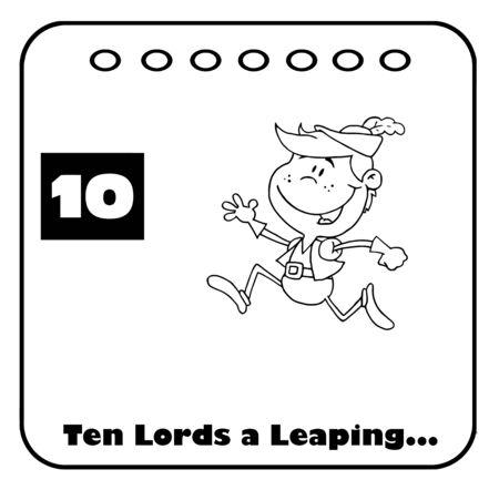days: Outlined Twelve Days Of Christmas Calendar 10