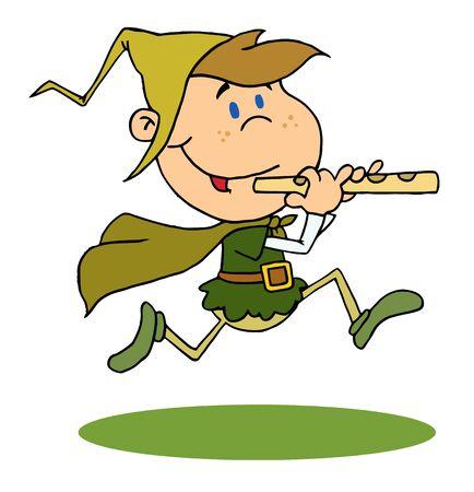 graphic illustration: Running Piper