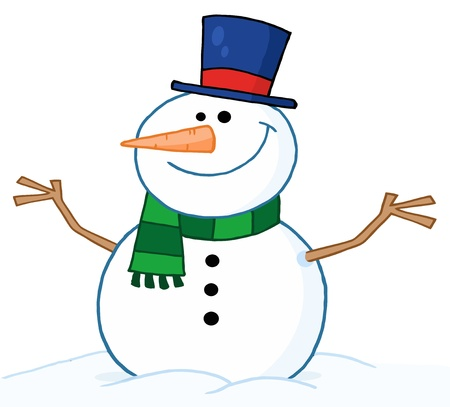 Friendly Snowman  Stock Vector - 8284454
