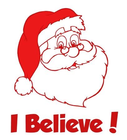 kris: Red Classic Santa Head