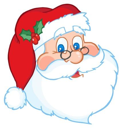 Classic Santa Claus Head  Illustration