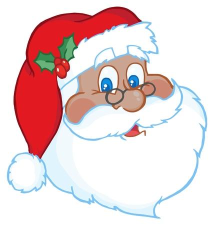 st claus: African American Classic Santa Claus Head