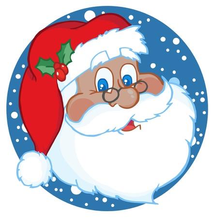 African American Classic Santa Claus Face