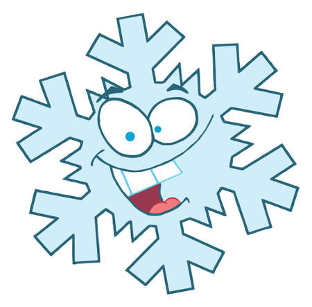 Cartoon Snowflake Character  Vector