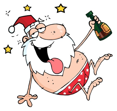 Drunk Santa Clause  Stock Vector - 8372603