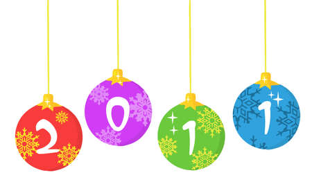 Christmas Ball Ornaments  Vector