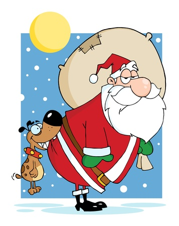 nick: Dog Biting A Santa Claus In The Night