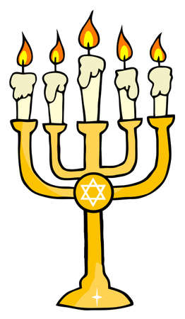Golden Menorah Stock Vector - 8644287