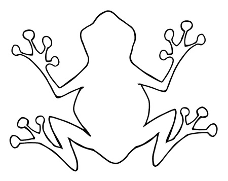 frog illustration: Outlined Frog Silhouette