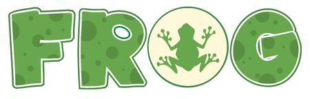 amphibians: Frog Font Text With Mascot Icon