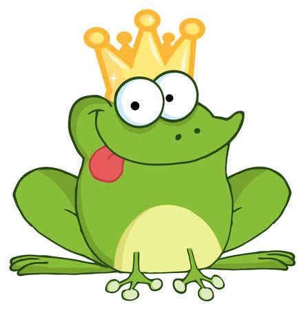 rana principe: Personaje de dibujos animados de Frog Prince Vectores
