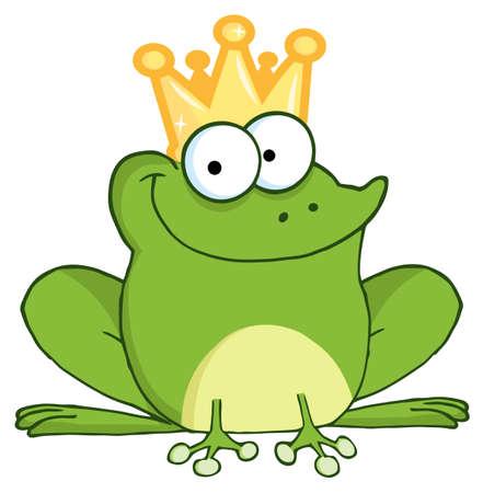 prince: Personnage de dessin anim� de grenouille Prince heureux