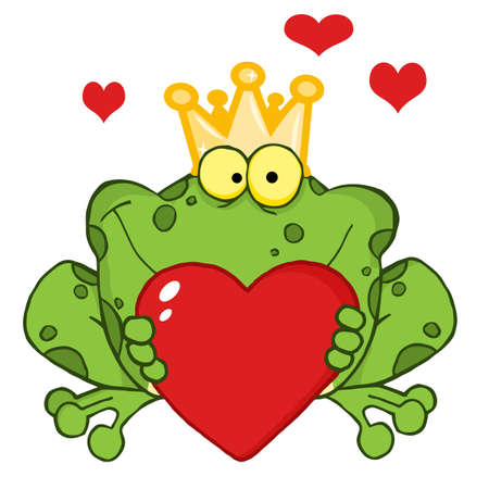 prince: C?ur de grenouille Prince Holding A Red