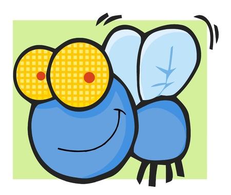 mosca caricatura: Volar personaje mascota