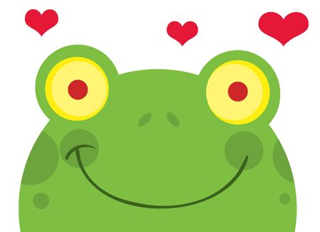 Frog With Hearts  Vector