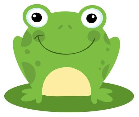 Happy Head Frog Cartoon Character  Stock Vector - 8930257