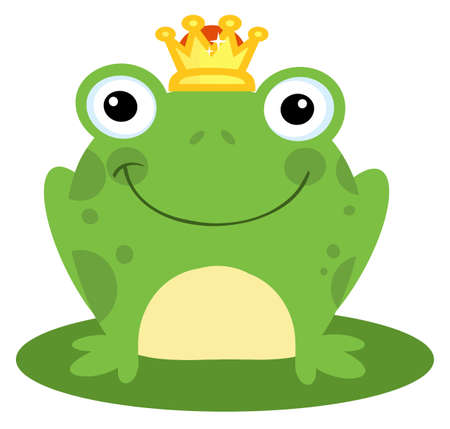 caricaturas de ranas: Pr�ncipe feliz de rana