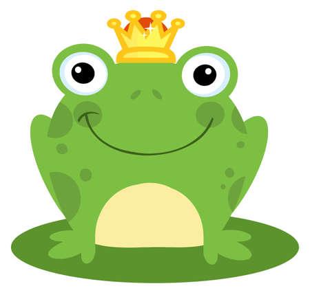 grenouille: Prince de grenouille heureux