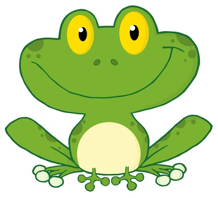 Happy Frog Cartoon Character  Stock Vector - 8930289
