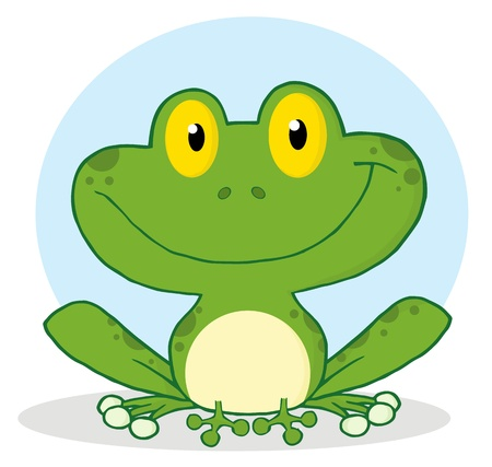 croaking: Smile Frog Cartoon Character