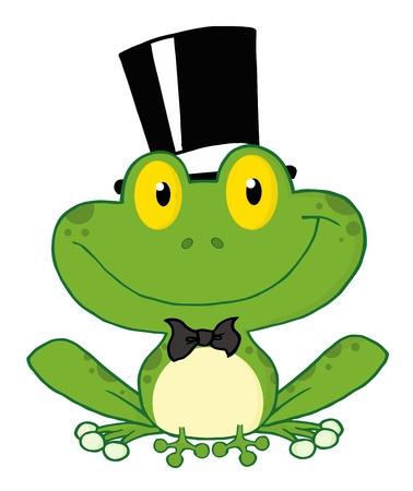 sapo: Personaje de dibujos animados de rana de novios