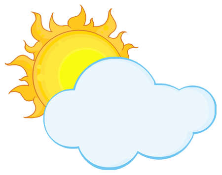 Sun Shining Hiding Behind Cloud Stock Vector - 8930272