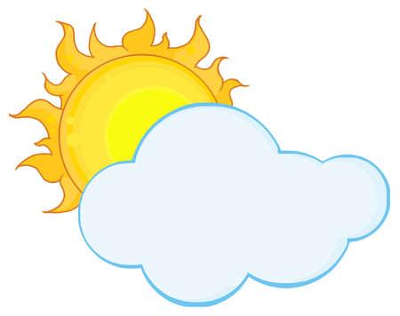Sun Shining Hiding Behind Cloud Stock Vector - 8930272