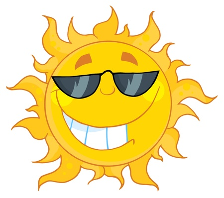 Smiling Sun With Sunglasses Stock Vector - 8930299