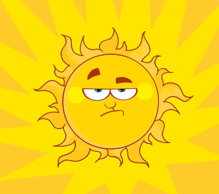 Angry Sun Stock Vector - 8930298