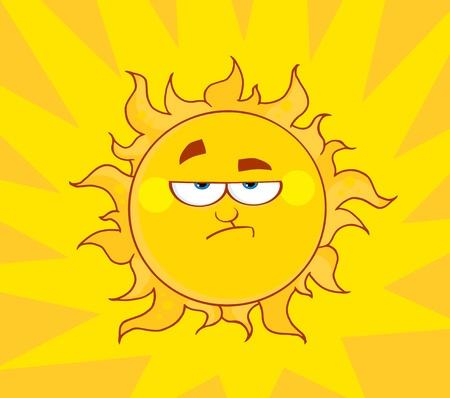 Angry Sun  Stock Illustratie