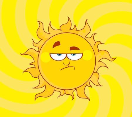 Lowering Sun Shining  Stock Vector - 8930303