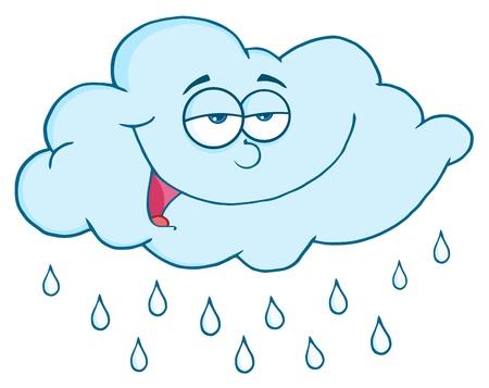 goutte de pluie: Nuages avec des gouttes de pluie Illustration