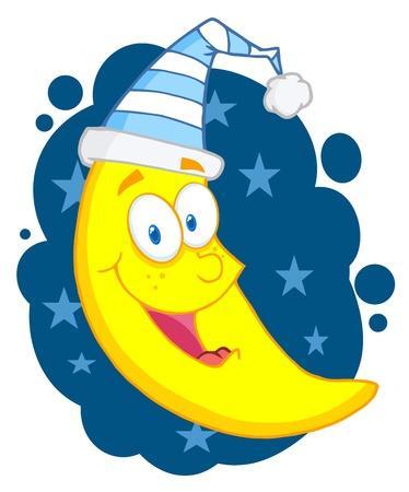 Happy Moon Stock Vector - 9152410