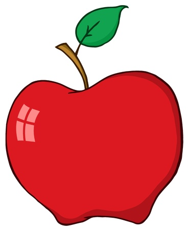 Cartoon Red Apple Illustration