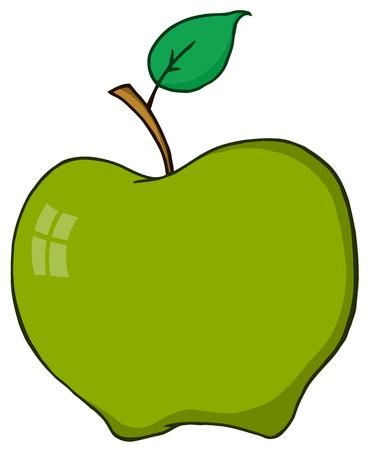 Cartoon Green Apple