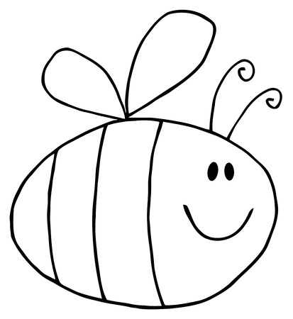 Flying Bee Cartoon Character  Vector