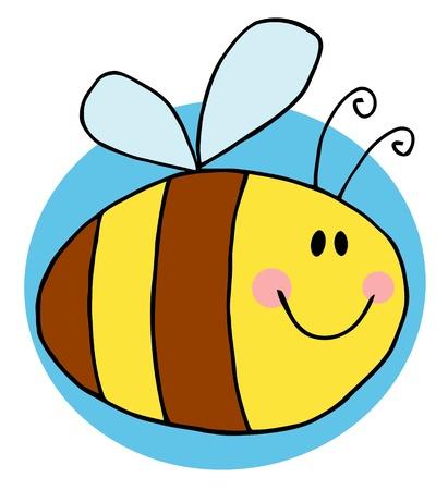 buzzing: Flying Bee Character