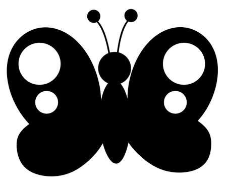 butterfly silhouette: Black Butterfly Silhouette