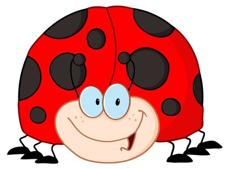 LadyBird Cartoon Character  Vector