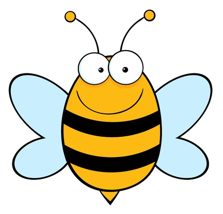 honey bee: Bee Mascot Cartoon Character  Illustration