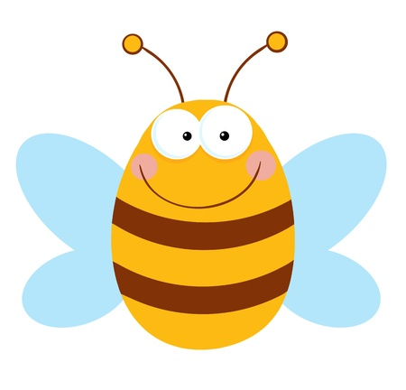 comic wasp: Bee Cartoon Character