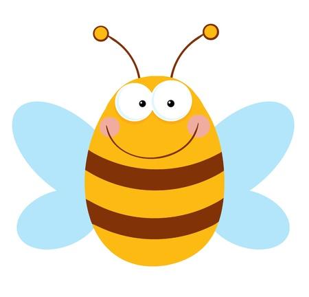 Personaje de dibujos animados de abeja