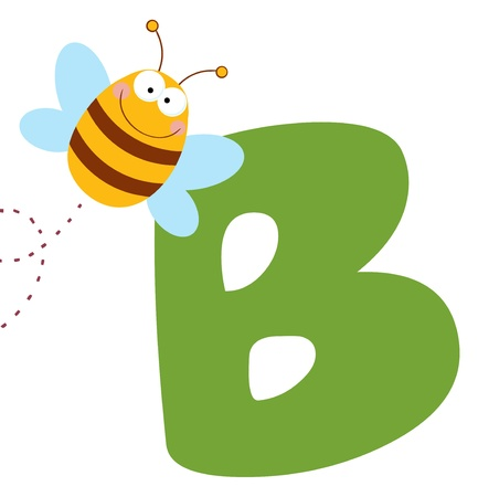 comic wasp: Bee With Letters B