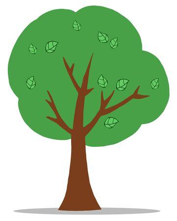 Green Cartoon Tree  Vector