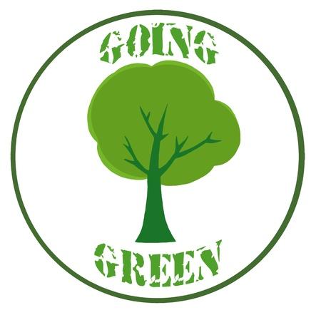 Green Tree Banner Stock Vector - 9398453