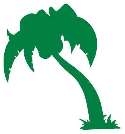 palmtrees: Silueta de Palm tres verde Vectores