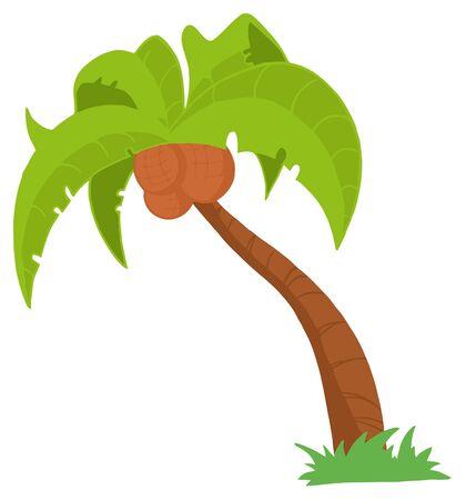 tropical island: Palm Three  Illustration